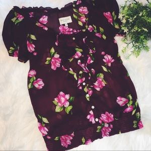 Gilly Hicks | Sheer Floral Top.